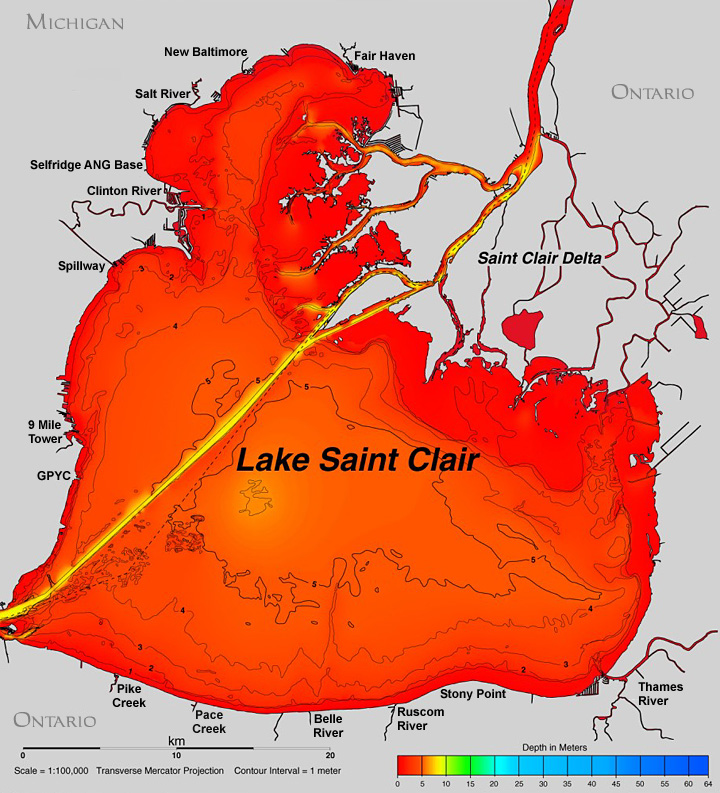 lake st clair topographic map Map Of Lake St Clair lake st clair topographic map
